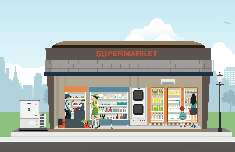 Retail | Supermarket | Zella DC | Zella Pro | Micro Data Center